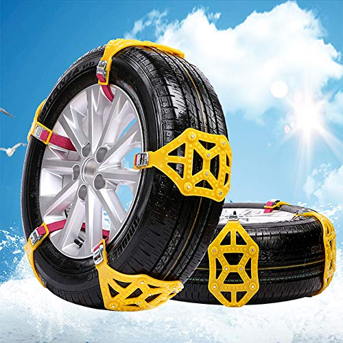 Maso, catene da neve, antiscivolo, portatili, facili da montare, con trazione d'emergenza, universali, per pneumatici di larghezza 165-285 mm