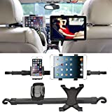US1984 2018 Universal Car Stand 360 Car Headrest Dual Mount Stand Holder For I Pad Mobile Tablet New 2 In 1 Tablet Car Holder Mount Stand For Back Seat Headrest(Car Headrest Dual Mobile Holder)