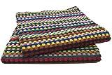 Zollner® 2er-Set Allzwecktücher/Trockentücher / Duschtücher/Handtuch groß, bunt Sortiert ca. 70x140 cm aus 100% Baumwolle, vom Hotelwäschespezialisten
