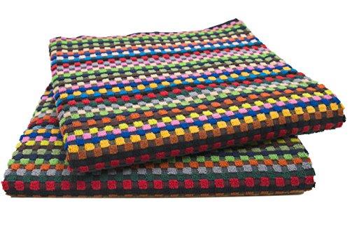 Zollner set di 2 teli doccia, colorati misti, 70x140 cm, in 100% cotone