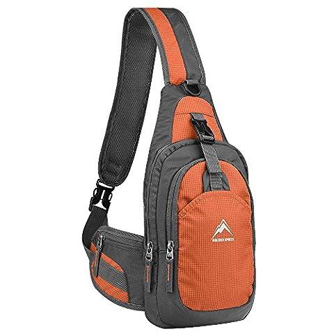 Maleden Schultertasche, Rucksack, Unbalance-Tasche, Fahrradrucksack, kratzfest, wasserdicht, Umhängetasche für Outdoor-Aktivitäten,