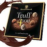 Schokoladen Trüffel Pralinen Geschenke Set - Luxus Französische Trüffles mit Kakao bestäubt in Premium Schwarze, Weisse und Milchschokolade (200 GR)