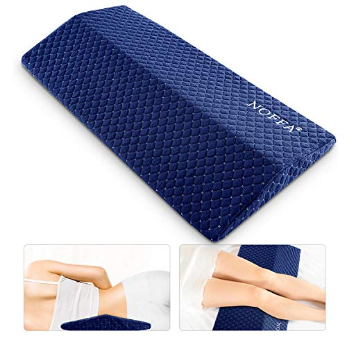 NOFFA Cuscino di supporto per la schiena in memory foam, cuscino di supporto lombare, cuscino per dormire a sostegno della schiena per mal di schiena / maternità / gravidanza, fermezza regolabile