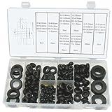 Umfangreiche Kabelführung Gummi Durchgangstüllen Karosserietüllen für Kabel Leitung 110-tlg. (im Aufbewahrungsbox/Sortimentsbox)
