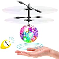 LISOPO RC Fliegender Ball mit Leuchtung Für Kinder Speilzeug, als Geschenk Oder Geburtstagsgeschenk