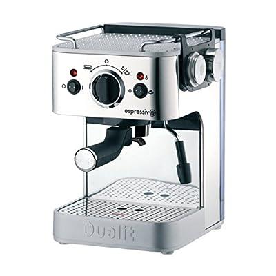 Dualit DL999 3-in-1 Espressivo Coffee Machine, Polished Finish, DCM2X, 1.5 L, 1.25kW, 330 mm H x 210 mm W x 260 mm D from Dualit