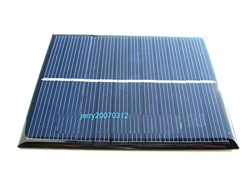 Zimo 5V/6V Mini Solar Panel Ladegerät Solarmodul DIY Batterie Solarzelle zur Aufladung in verschiedenen Mustern zum Auswahl (6V/1.1W/200mA)