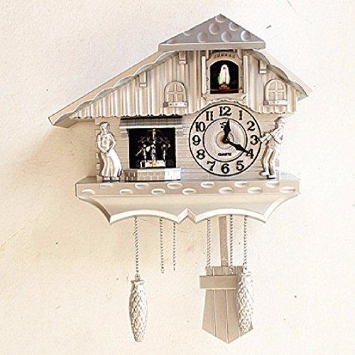 CNBBGJ Horloge murale de style européen, une fenêtre lors de la pendaison swing, table Salon Salon moderne simple créatif,une horloge coucou