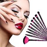 KOBWA - Juego de brochas de maquillaje profesionales para mujeres y niñas, base de sombra de ojos, colorete líquido, 10 unidades