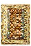 CarpetFine: Kelim Afghan Teppich 254x305 Beige,Blau,Braun - Geometrisch
