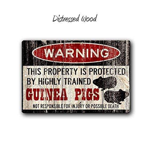 HSSS Meerschweinchen-Schild, lustiges Metallschild, Meerschweinchen, Käfig, Meerschweinchen, Meerschweinchen, Warnschild, Haustiergeschenk, Höhle für Kleintiere, Meerschweinchen, Geschenk