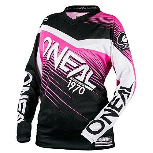 O'Neal Element Racewear MX Motocross Damen Jersey Enduro Offroad Gelände Quad Cross Shirt Pink, 0008-70, Größe M
