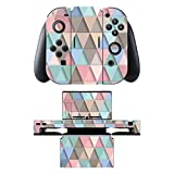 Disagu SF-sdi-5542_773 Design Skin/Folie für Nintendo Switch/Controller/Dockingstation - Motiv Bunte Dreiecke 4