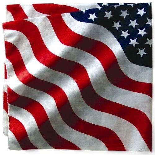 BANDANA US DRAPEAU USA - 55 cm x 55 cm - AIRSOFT / PAINTBALL / MOTO / BIKER / OUTDOOR / COUNTRY