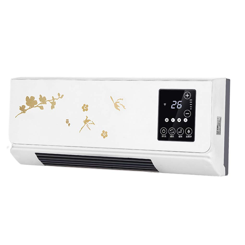 Wenfei Shop Termoventilatore Ptc In Ceramica Domestica 2kw Termoventilatore A Muro Con Telecomando Con Termostato E Display A Led Riscaldamento