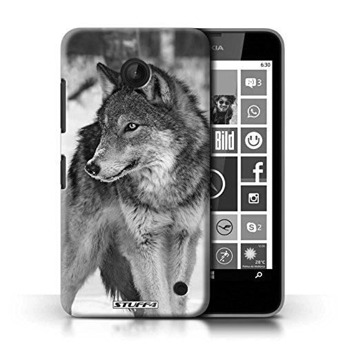 Kobalt® Imprimé Etui / Coque pour Nokia Lumia 635 / Grenouille conception / Série Animaux de zoo Loup
