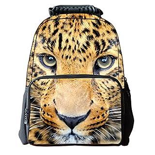 AUBIG ,  Schulrucksack léopard jaune #1 42*29*18cm
