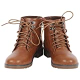 #10: Swagg Brown Leather Boots with Laces