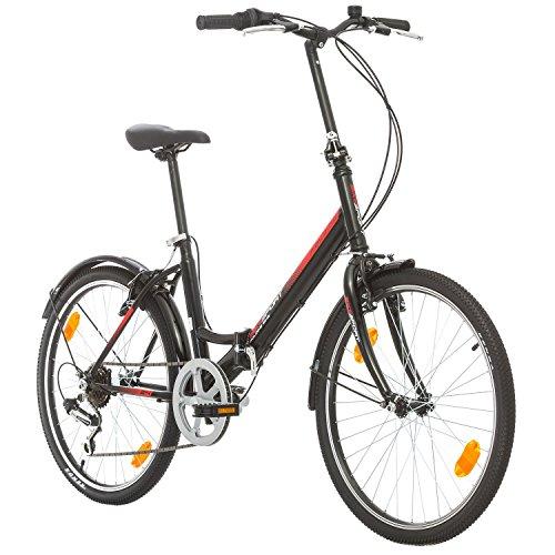 bike sport live active bikesport folding bicicletta pieghevole 24 (gloss nero)