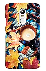 Omnam Cup Of Tea In Mufler Printed Designer Back Cover Case For Lenovo Vibe X3