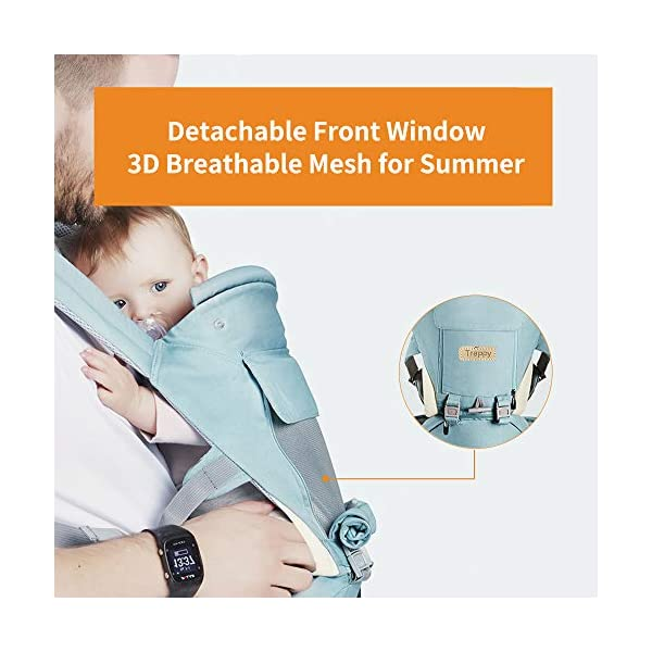 Baby Carrier/Front Carrier One with Hip Seat Egornomic Designed 11 in 1 Hands Free for All Seasons, Easy Breastfeeding, No Infant Insert Needed, Adapt to Growing Baby (Newborn, Infant & Toddler) Gossipboy PREMIUN COTTON MATERIAL. We used top quality 100% pure cotton material, which is soft, smooth, breathable, anti- allergy, anti- depigmentation and anti- pilling. Plus tough buckles, your baby will be comfortably secured in the baby carrier, no worries for falling accidents! LABOR SAVER. The unique shoulder design and thickly padded wide shoulder straps can easily disperse baby's weight. You will feel much easier with this baby carrier because the baby's weight is distributed. The buckles are easy to access and durability tested. ANTI- SLIP HIP SEAT. The hip seat was designed by ergonomics and thickly padded by anti- slip rubber dots surface. It benefits skeletal development for baby. Plus the covered edges around the hip seat, you are worry- free for scratches to your baby's delicate skin. 35° bevel design for more comfortable parenting. 4