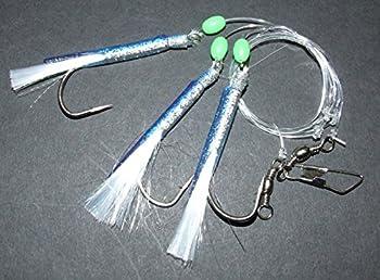 Super Catch Jumbo Silver Dream Rig Lure 3 X 70 Hook Boat Bass Cod Sea Fishing Line Clip 0