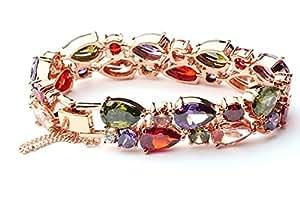 La Vivacita® 18ct Gold Plated Swarovski Crystal Luxury Eternal Bracelet Quality Gift for Women