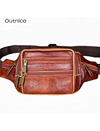 Buyworld Outnice Brand Vintage Retro Genuine Waist Bag Male Fanny Pack Mens Bum Bags Business And Travel Bags...