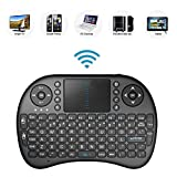 2.4GHz Mini Mobil Wireless QWERTY Tastatur mit Touchpad Maus, Li-ion Battery für Panasonic TX-65EXW604 TX-55EXW604S TX-49EXW604S Smart TV