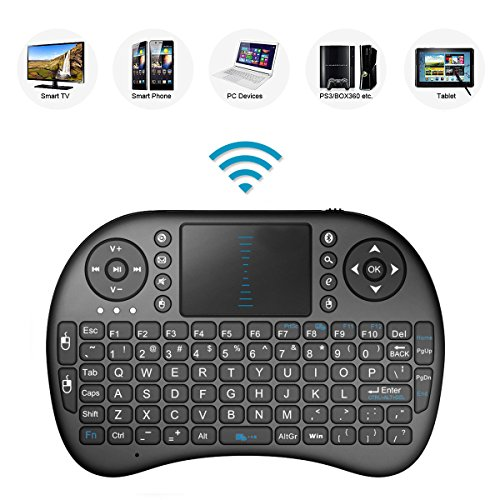 2.4GHz Mini Mobil Wireless QWERTY Tastatur mit Touchpad Maus, Li-ion Battery für LG 55UJ7509 49UJ7509 65UJ6309 Smart TV