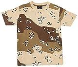 De Niño Ejército Camuflaje PIXEL Camuflaje Combate Cuello Redondo Camiseta Tallas de 2A 8 años - piedrecilla Camuflaje, 140 (5-6 Years)