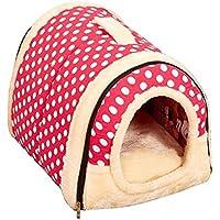 UHMei Bolso de mano para mascotas con cojín extraíble – caseta lavable para mascotas, gato