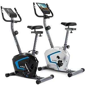 Heimtrainer RX300 Fitnessbike Ergometer mit Trainingscomputer, Pulssensoren und 7 kg Schwungrad, Smartphone Halterung, bis 125 kg