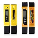 Asixx Tester di qualità dell'Acqua, Misuratore di PH e TDS, Misuratore di Temperatura Tester per Tester LCD Digitale Misuratore di Temperatura Tester per Idroponica, Acquari, Piscine