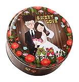 Koala Superstore 2 Pack Hochzeitstorte Kekse Tin Boxes Sweet Lover Muster Runde Süßigkeitskästen