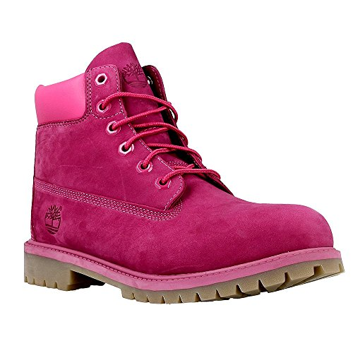 Timberland 6-inch Premium Waterproof Boots Junior Enfants Chaussures Violet A14YQ, Size:37