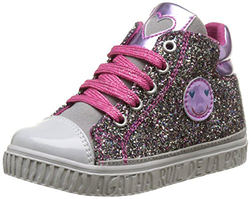 Agatha Ruiz de la Prada Mädchen Teie Hohe Sneaker, Multicolore (Multicolor), 25 EU