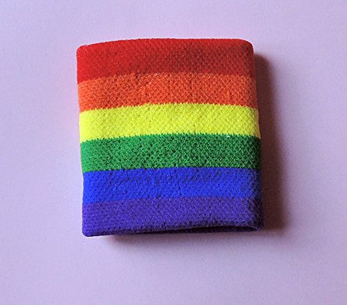 """Preisvergleich Produktbild Tolles Schweißband """"Rainbow"""" -Regenbogen-Armband, gay, csd, queer."""