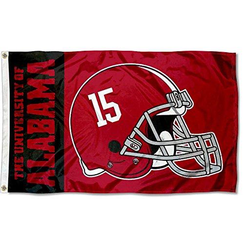 Alabama Crimson Tide Fußball Helm Flagge