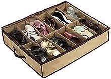 whizztec-12par de zapatos zapatero soporte de almacenamiento organizador bolsa caja debajo de la cama armario