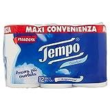 Tempo Carta Igienica Comfort - Lunga, Resistente e Morbida - 5 Confezioni da 12 Grandi Rotoli (Totale 60 Grandi Rotoli)