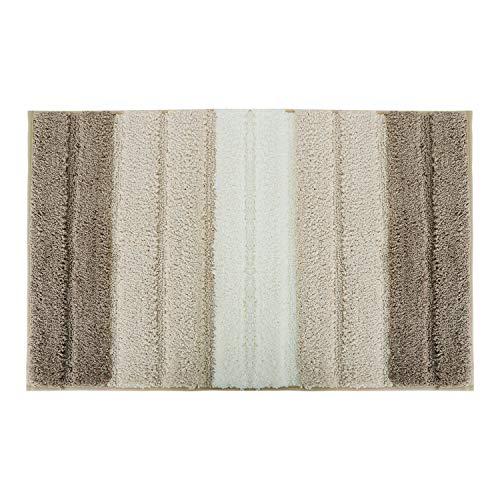 Lewondr Stripe Door Mat, Soft Microfiber Entry Way Welcome Doormat, Heavy Duty, Non Slip, Easy to Clean Floor Mat for Indoor Outdoor Bedroom Patio 20