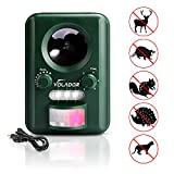 Volador Cat Repellent, Motion Activated Ultrasonic Solar Power Battery Operated Animal Repeller Wild