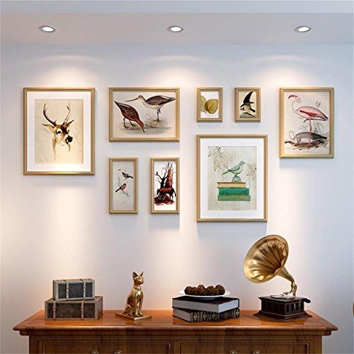 n Europäischen wohnzimmer bilderrahmen wand schlafzimmer fotowand kombination ( Farbe : Gold ) (Gold-farbe-kombination)