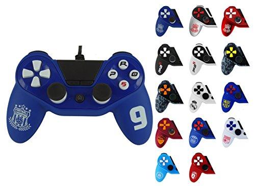 Controller PS4 Pro5 Sport - Pro5 Controller per Playstation 4 - PS4 controller Pro5 wired controller, Edizione Calcio Blu