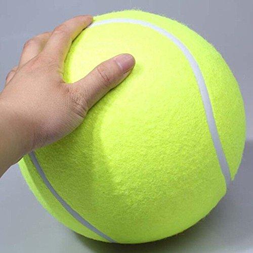 Riesentennisball Hund Kaut Spielzeug Outdoor oder im Zimmer zu Hause zum Spielen und Trainieren Das Beste Für Die Gesundheit Eines Hundes Durchmesser 24cm - 4