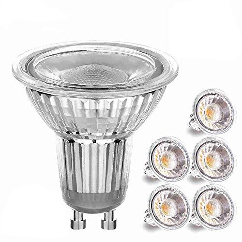 6 Pack 3W LED Glas GU10-2700K Warmweiß Glühbirne 35W Halogen Ersatz (von Crompton Lamps) - 9w Cool White Spot