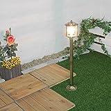Außenleuchte Stehlampe Antik Echt-Messing Premium Rostfrei Rustikal H89cm Wegelampe Gartenbeleuchtung Terrasse