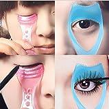 Fengh 3 en 1 mascara de maquillaje pestañas guía peine cosmético...