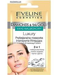 EVELINE Cosmetics Diamond and Gold Set of 3 Luxury Professional Lifting Masks 3 x 7ml Hipoallergenic
